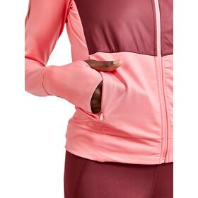 Craft ADV Charge Shiny Jersey Hood Jacket Women, rosa/rojo